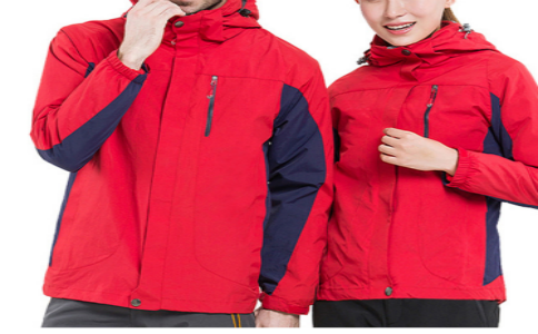 红色羽绒内胆冲锋衣